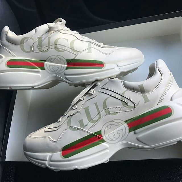 ae8a419e773c Rhyton Gucci logo leather sneaker - Exclusive Sneakers Sa