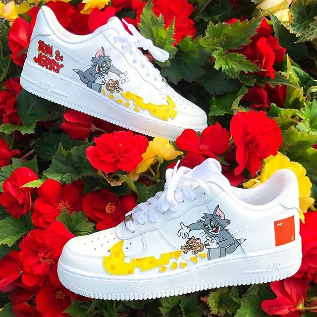 Nike Airforce 1 tom and jerry